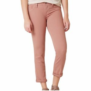 Miss Me Mid Rise Easy Crop Dusty Pink Jeans